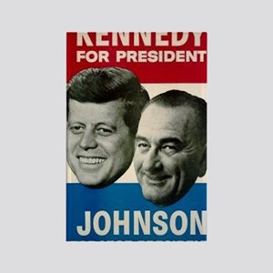 ART JFK and LBJ 60 Rectangle Magnet